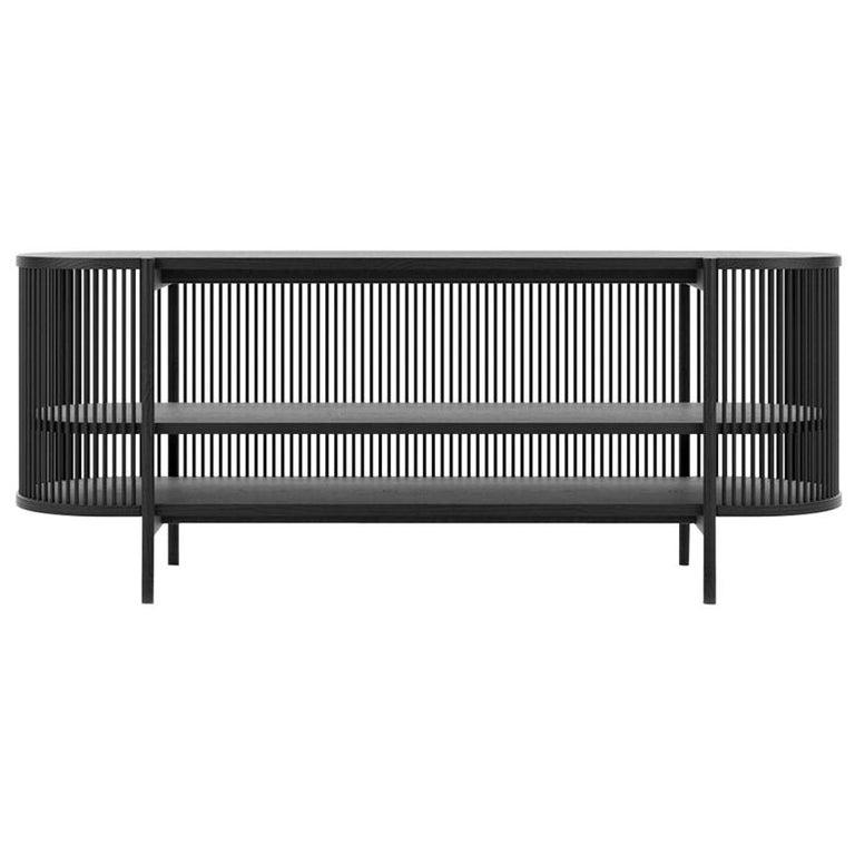Bastone Sideboard in Black For Sale
