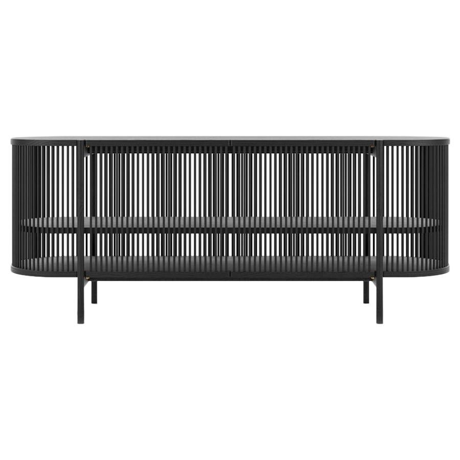 Bastone Sideboard in Black with Doors
