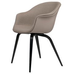 Bat Dining Chair, Front Upholstered, Wood Base, Natural Oak
