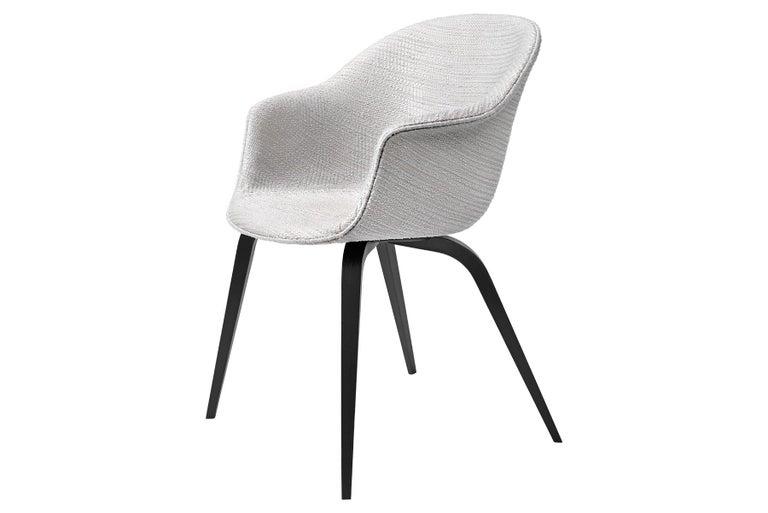 Mid-Century Modern Bat Dining Chair, Fully Upholstered, Oak Base For Sale