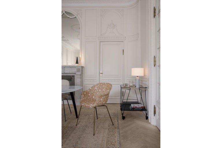 Lacquered Bat Dining Chair, Fully Upholstered, Oak Base For Sale