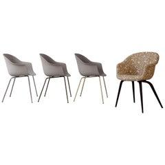 Bat Dining Chair, Fully Upholstered, Oak Base