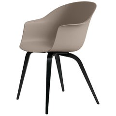 Bat Dining Chair, Un-Upholstered, Black Stained Beech