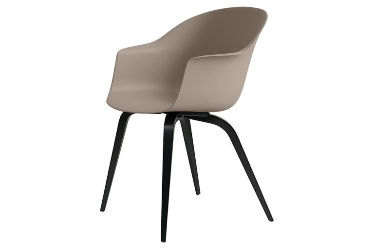 Danish Bat Dining Chair, Un-Upholstered, Natural Oak For Sale