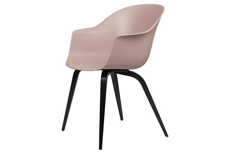 Contemporary Bat Dining Chair, Un-Upholstered, Natural Oak For Sale