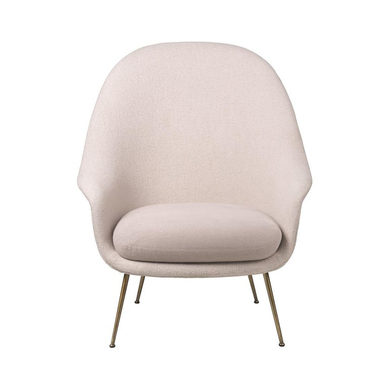 Bat Lounge Chair High Back Fully Upholstered With Semi