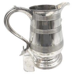 Bateman 1796 English Sterling Silver Spouted Beer Jug Pitcher Sold at Sotheby's