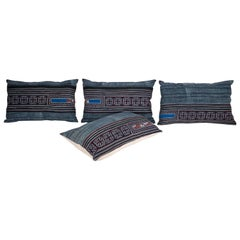 Batik Pillow Cases / Cushions Made from a Hmong Hill Tribe Batik Textile