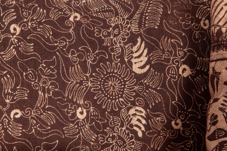 20th Century Batik Pillow Cases Fashioned from a Vintage Indonesian Batik For Sale