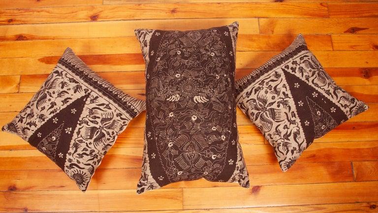 Batik Pillow Cases Fashioned from a Vintage Indonesian Batik For Sale 2