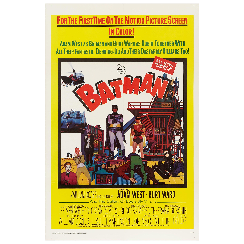 'Batman' Original Vintage US One Sheet Movie Poster, 1966