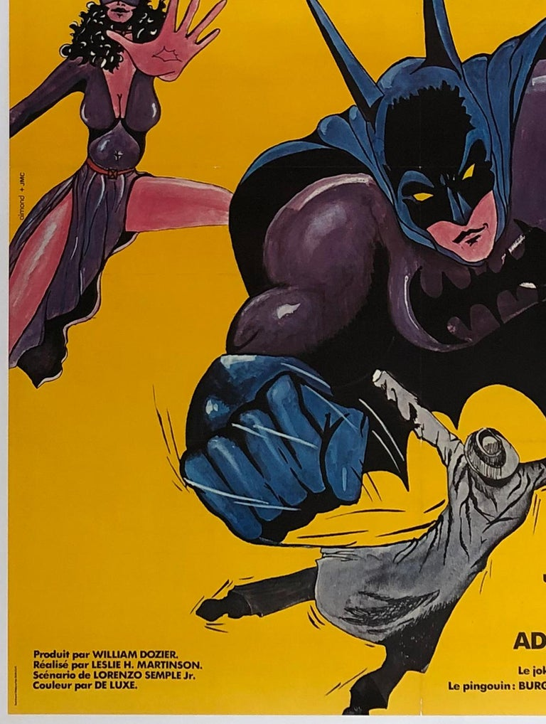 Batman R1970s French Grande Film Movie Poster In Excellent Condition For Sale In Bath, Somerset