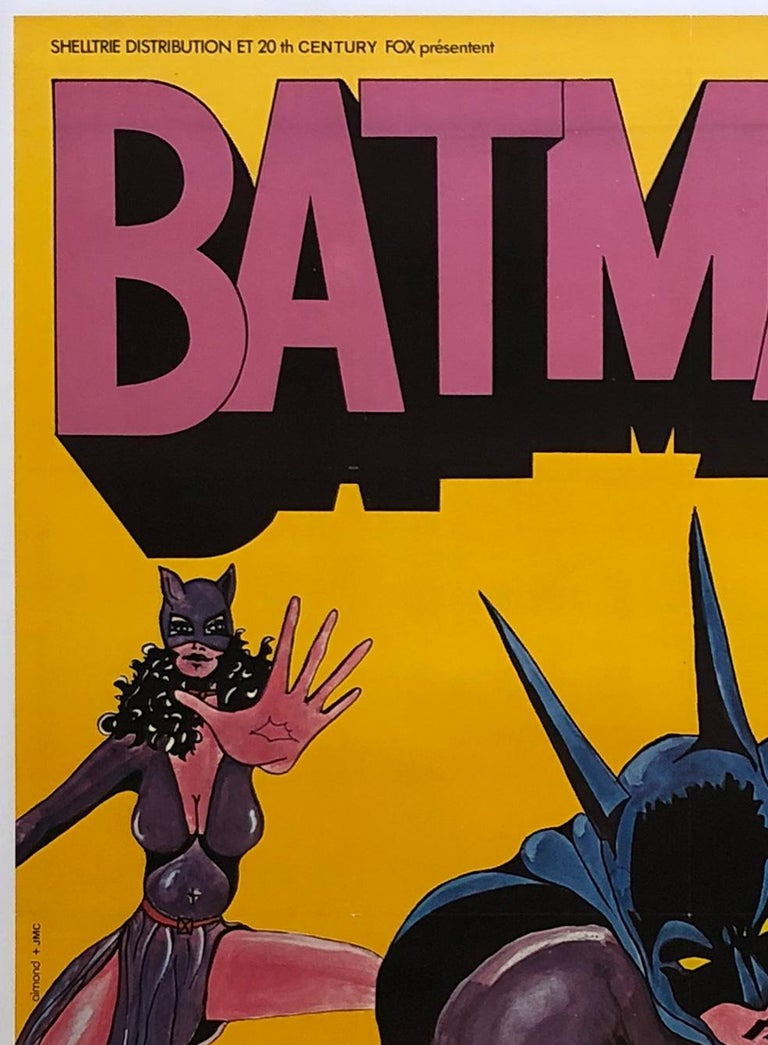 Batman R1970s French Grande Film Movie Poster For Sale 1