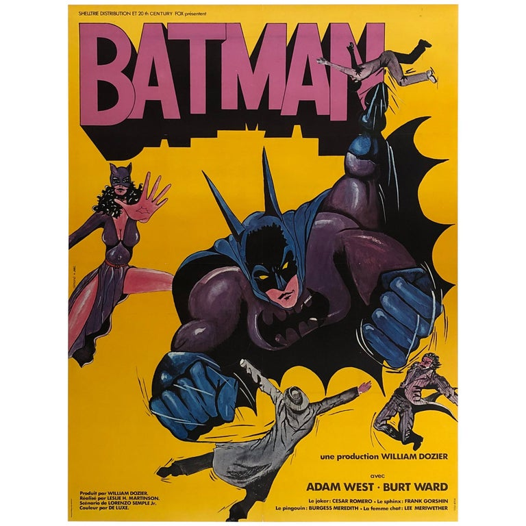 Batman R1970s French Grande Film Movie Poster For Sale