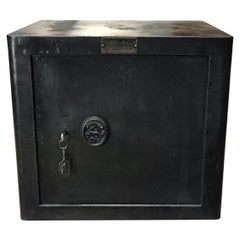 Bauche Metal Safe with Original Key, 1920s