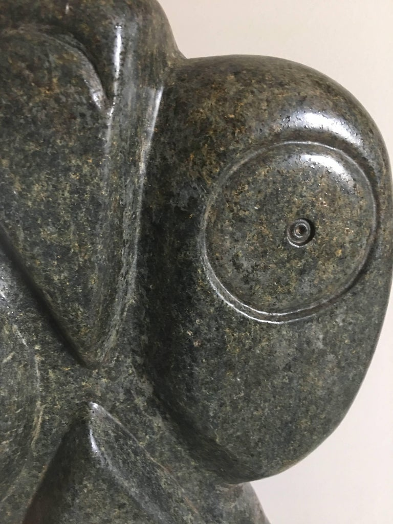Bauden Khoreay's, carved Stone Sculpture of Owl, Malawi, Africa, circa 1970 For Sale 5