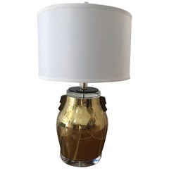 Bauer Brass and Lucite Asian Inspired Lamp