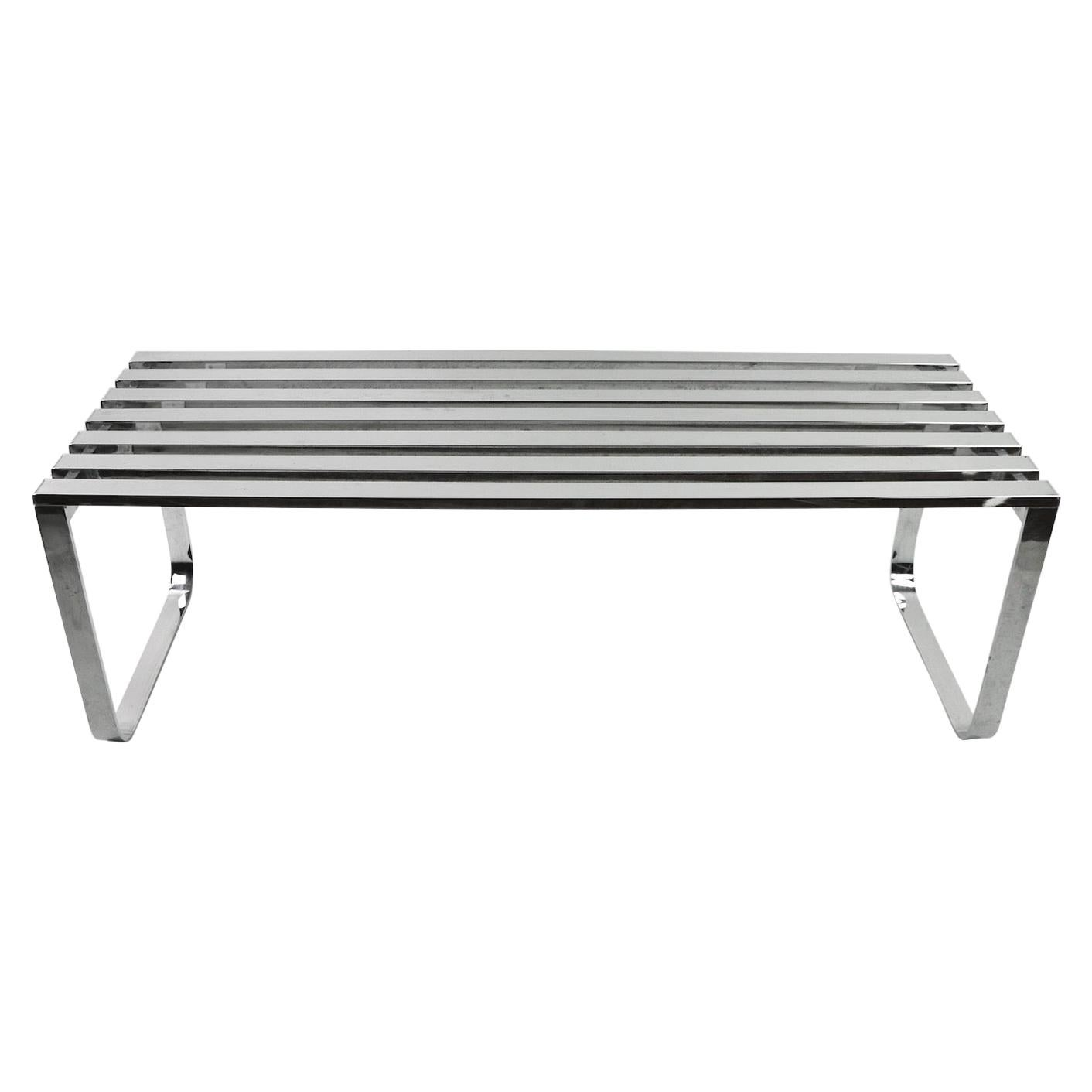 Design Institute of America Chrome Bench Coffee Table