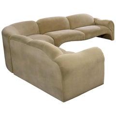 Baughman Style Hollywood Regency Modern Sectional Sofa