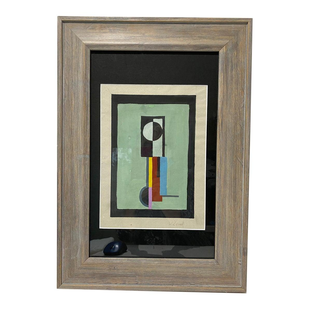 Bauhaus Abstract Painting by Walter Dexel