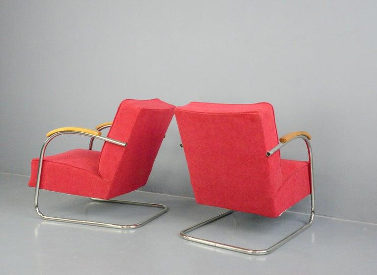 Bauhaus Armchairs by Mucke Melder, circa 1930s For Sale 4