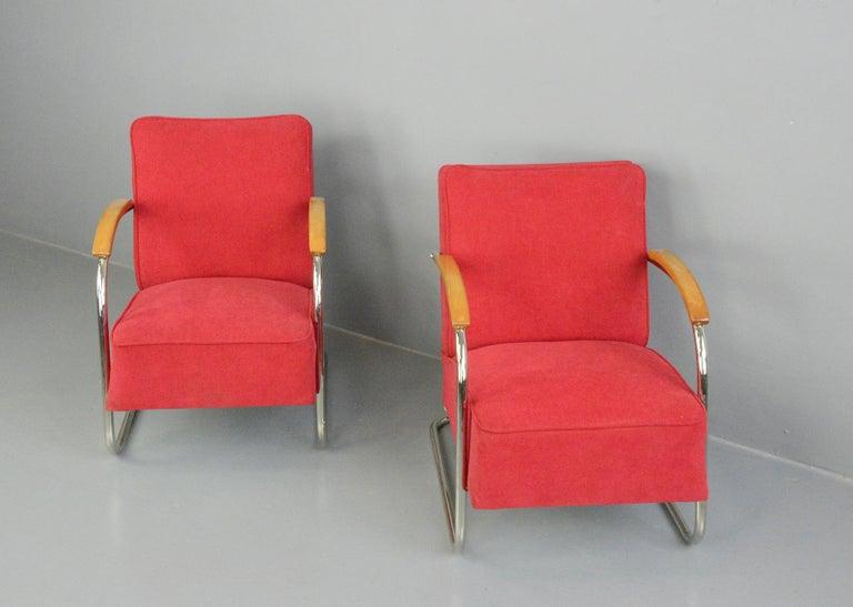 Bauhaus Armchairs by Mucke Melder, circa 1930s For Sale 5