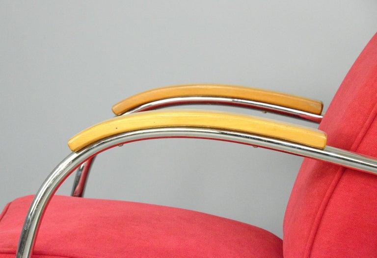 Mid-20th Century Bauhaus Armchairs by Mucke Melder, circa 1930s For Sale