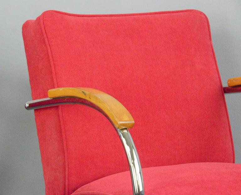 Steel Bauhaus Armchairs by Mucke Melder, circa 1930s For Sale