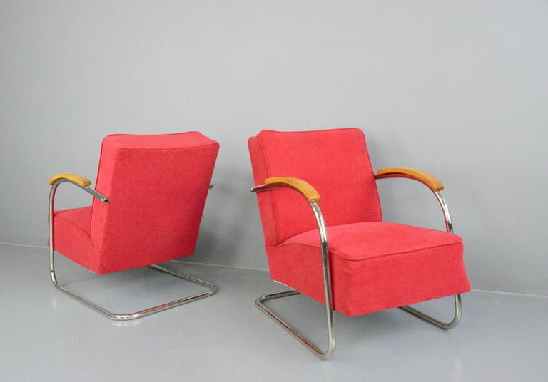 Bauhaus Armchairs by Mucke Melder, circa 1930s For Sale 1