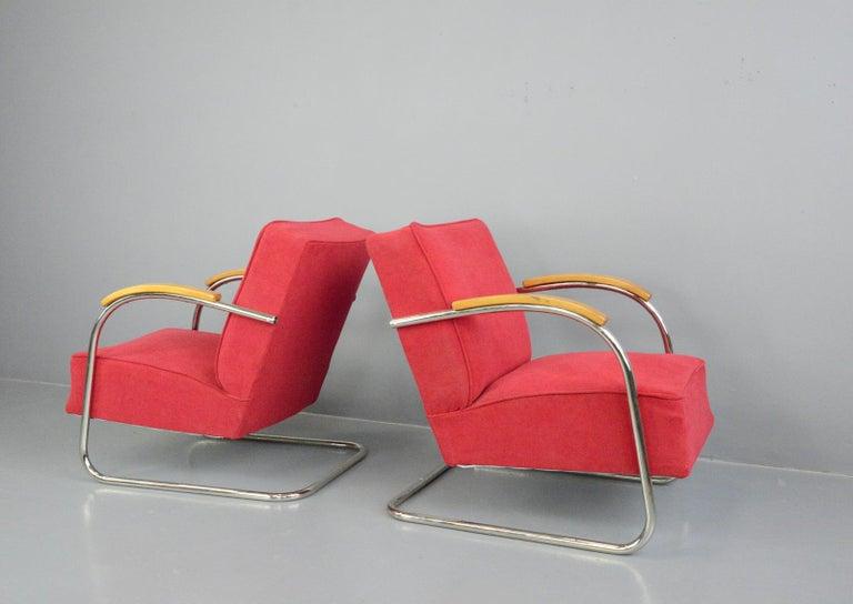 Bauhaus Armchairs by Mucke Melder, circa 1930s For Sale 2