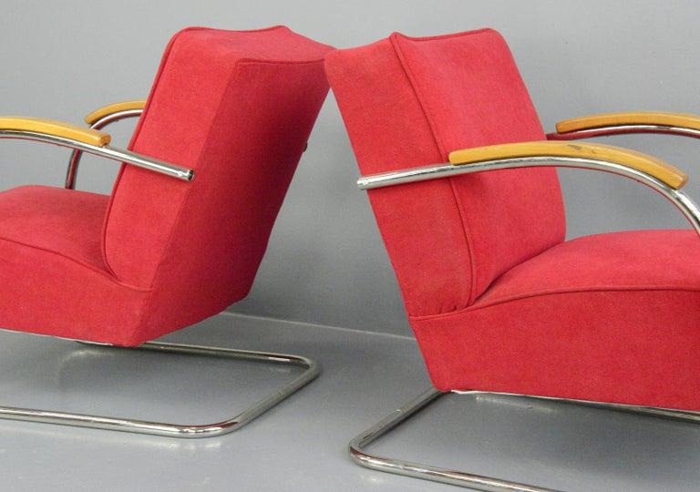 Bauhaus Armchairs by Mucke Melder, circa 1930s For Sale 3