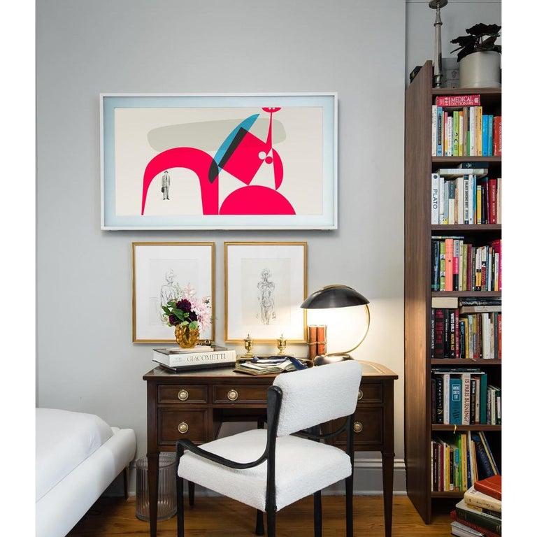 Contemporary Bauhaus Art Deco Style Desk Lamp - Table Lamp - re editon For Sale