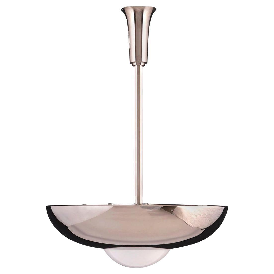 "Bauhaus Art Deco Style Pendant Lamp ""Zwadela"" Chandelier Pendant, Re-Edition"