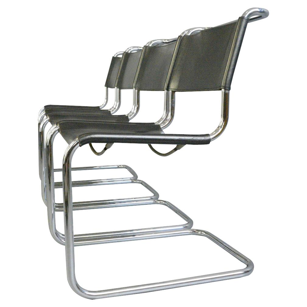 Bauhaus B33 Chairs by Marcel Breuer for Thonet