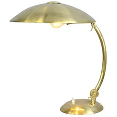 Bauhaus Brass Table Lamp by Hillebrand, circa 1930s