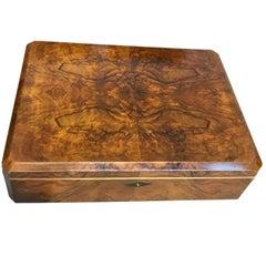 Bauhaus Casket Box, Walnut Veneer/Birdseye Maple, Germany, circa 1920