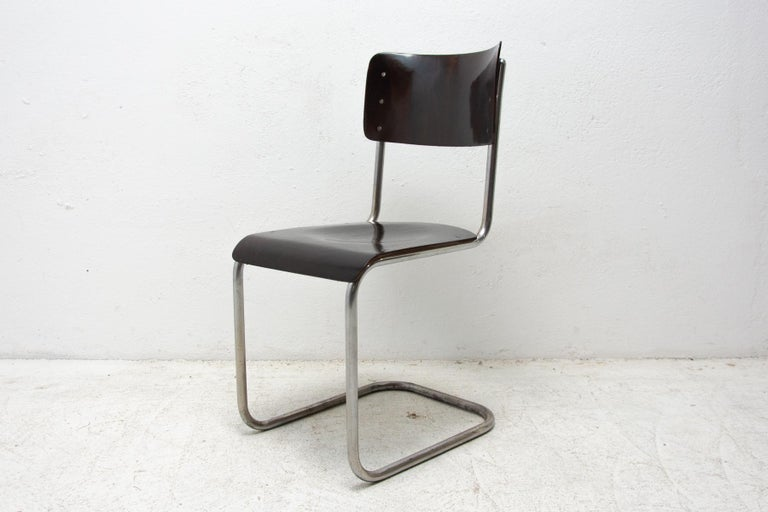 Bauhaus Chair S43 by Mart Stam, 1930´s In Good Condition For Sale In Prague 8, CZ