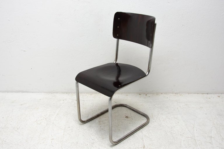 Steel Bauhaus Chair S43 by Mart Stam, 1930´s For Sale
