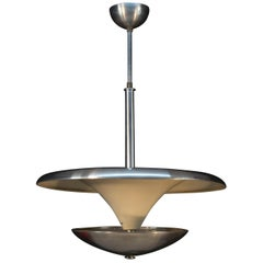 Bauhaus Chandelier with Indirect Light, 1930s