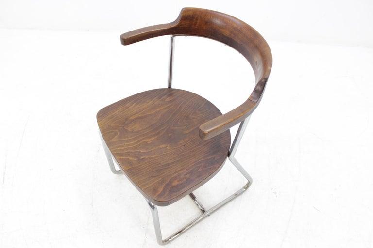 Bauhaus Chrome Chair In Fair Condition For Sale In Barcelona, ES