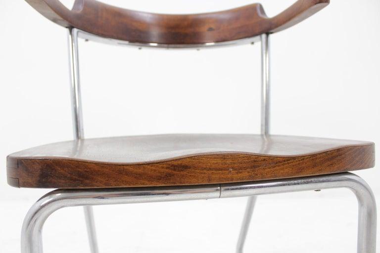 Mid-20th Century Bauhaus Chrome Chair For Sale