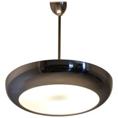 Bauhaus Chrome Pendant Lamp by Josef Hurka for Napako