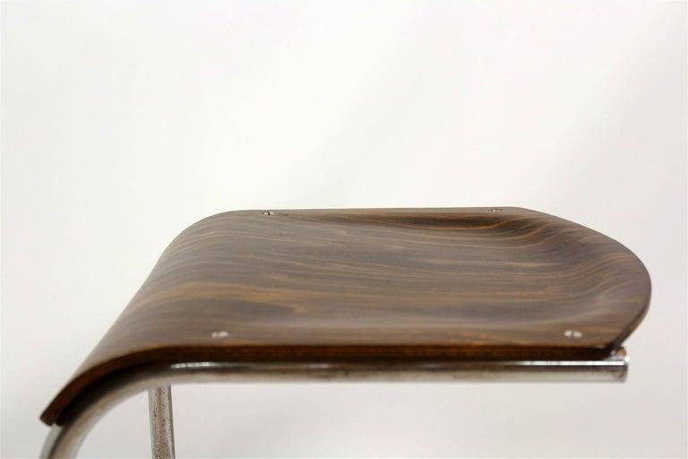 Bauhaus Chrome Picollo Stool by Mart Stam for Mücke-Melder, 1930s For Sale 4