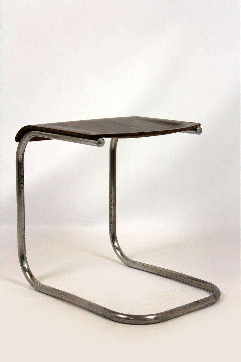 Bauhaus Chrome Picollo Stool by Mart Stam for Mücke-Melder, 1930s For Sale 5
