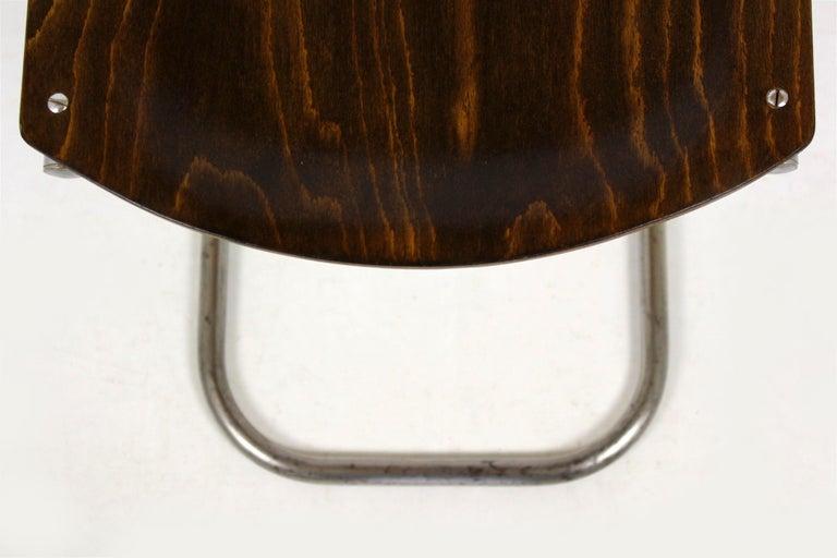 Bauhaus Chrome Picollo Stool by Mart Stam for Mücke-Melder, 1930s For Sale 7