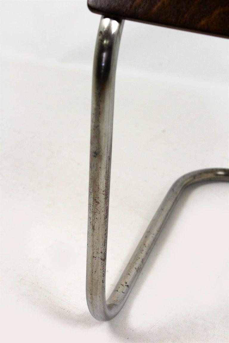 Bauhaus Chrome Picollo Stool by Mart Stam for Mücke-Melder, 1930s For Sale 1