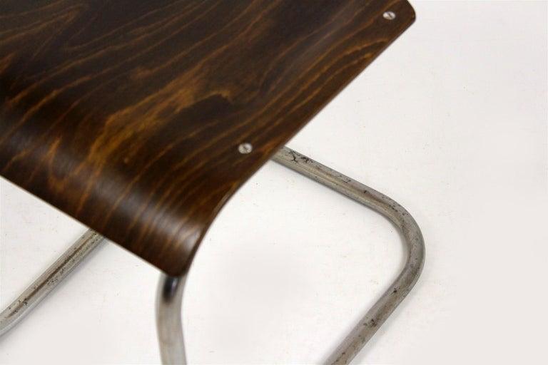 Bauhaus Chrome Picollo Stool by Mart Stam for Mücke-Melder, 1930s For Sale 3