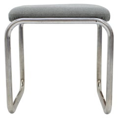 Bauhaus Chrome Stool by Robert Slezák, 1930s