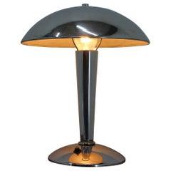 Bauhaus Chrome Table Lamp, 1930s