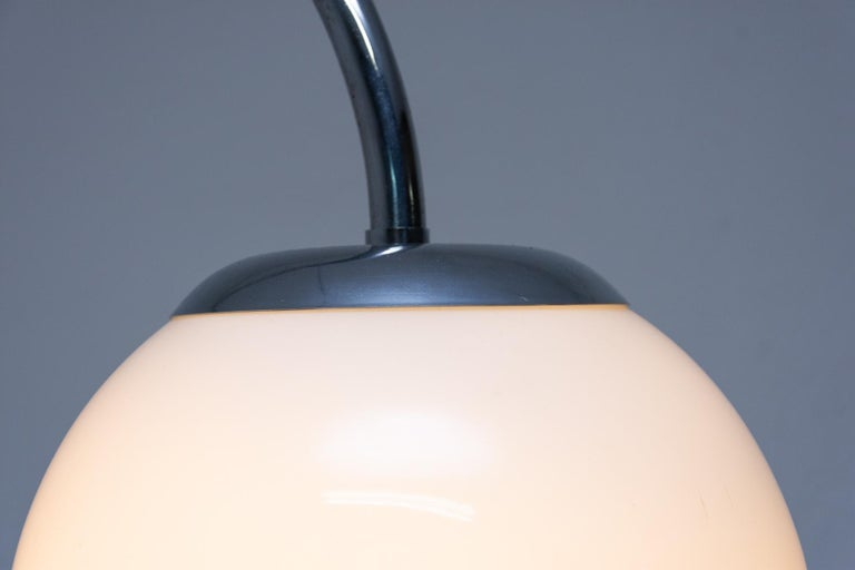 Czech Bauhaus Chromed Floor Lamp by Robert Slezak, 1930s, Bohemia For Sale